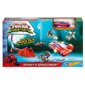 Hot Wheels Marvel Spidey's Speed Drop Track Set Dkt27-Dkt28