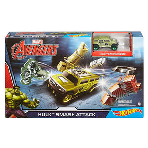 HOT WHEELS MARVEL AVENGERS HULK SMASH ATTACK TRACK SET DKT27-DKT29