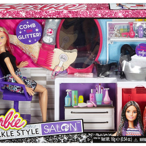 Barbie Sparkle Style Salon and Blonde Doll Playset
