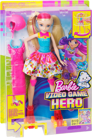 Barbie Video Game Hero Light Up Skates Doll DTW17