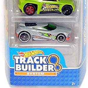 Hot Wheels 5 Cars Pack Track Builder System 1806 DVF97