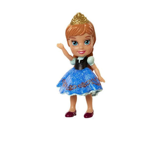 Disney Frozen Poseable Sparkle Anna Mini Doll Cake Topper  ( 3 inches )