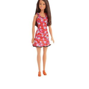 Barbie Doll Chic Red and White Flowers Dress DVX90