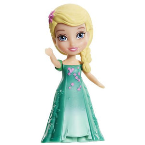 Disney Frozen Fever Toddler Elsa Mini Doll and Cake Topper ( 3 inches )