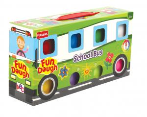 Funskool Fun Doh School Bus, Multi Color 9808500