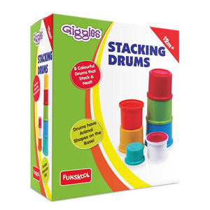 Giggles Stacking Drums, Multi Color 1071500