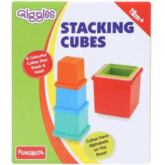 Funskool Giggles Stacking Cubes, Multi Color 1072400