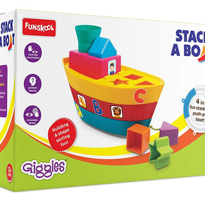 Giggles Stack a Boat, Multi Color 1073200