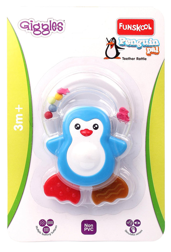 Giggles Penguin Pal Teether Rattle - Muti Color 9662200