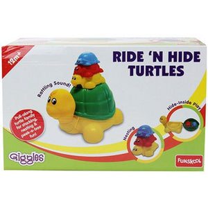 Funskool Ride 'n Hide Turtle, Multi Color 9400200