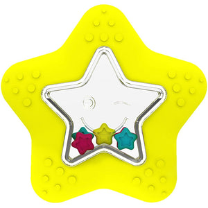 Giggles Star Fish Teether Rattle, Yellow 9662600