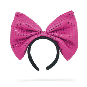Jessie My Princess Bow Headband , Fashion Accessory, PINK Shimmer Headband, Hair Accessory, Girl Headband ( DARK PINK )