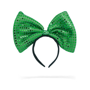 Jessie My Princess Bow Headband , Fashion Accessory, GREEN Shimmer Headband, Hair Accessory, Girl Headband ( GREEN )