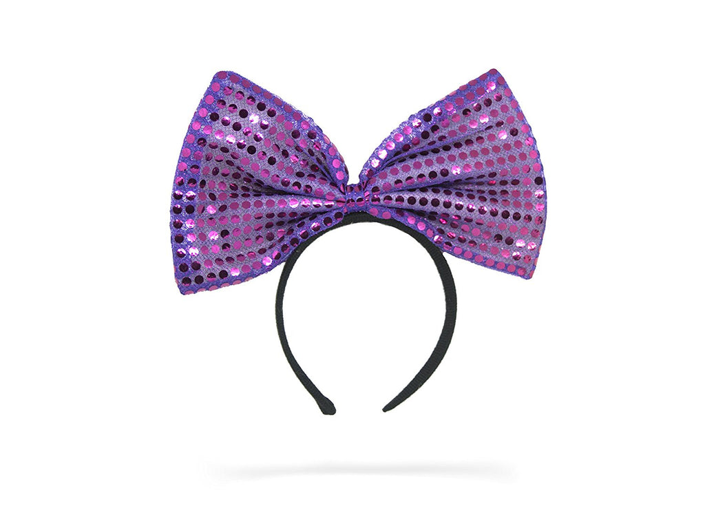 Jessie My Princess Bow Headband , Fashion Accessory, Purple Shimmer Headband, Hair Accessory, Girl Headband