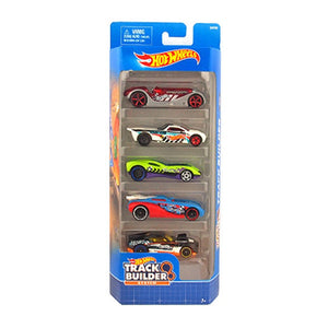 Hot Wheels  5 Cars Pack Track Builder 1806-DVF89