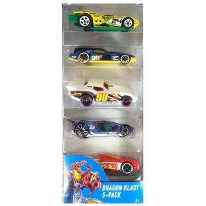 Hot Wheels  5 Cars Pack Dragon Blast