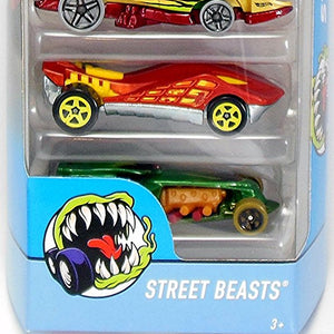 Hot Wheels  5 Cars Pack Street Beasts
