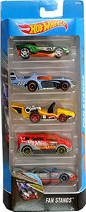 Hot Wheels  5 Cars Pack Fan Stands