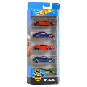 Hot Wheels  5 Cars Pack HW Exotics Hotwheels Pack