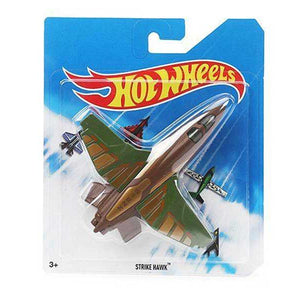 Hot Wheels Die Cast Strike Hawk Airplane - Brown Green BBL47-CCF86
