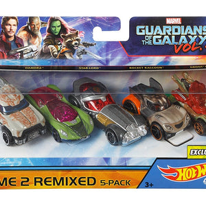 Hot Wheels Marvel Guardians, Multi Color (Pack of 5) DXM19