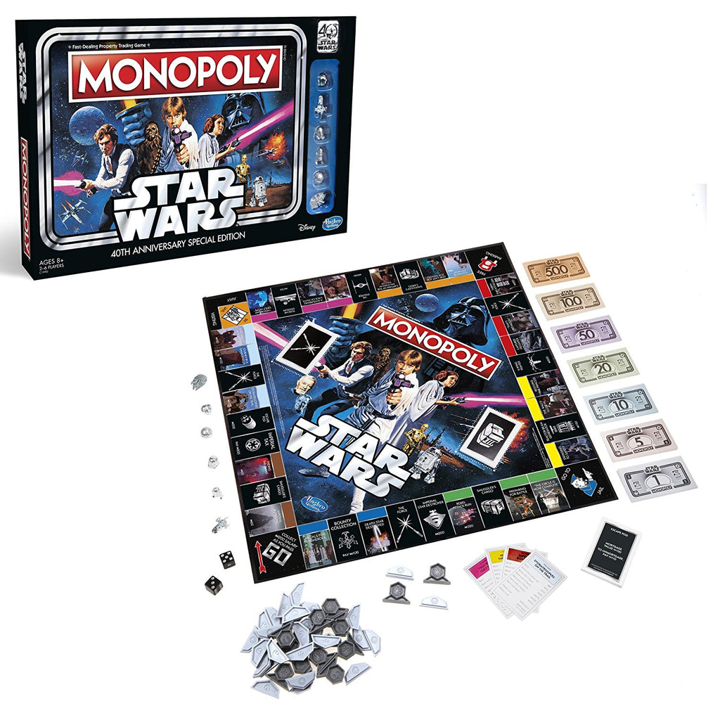 Hasbro Monopoly Game Star Wars 40th Anniversary Special Edition