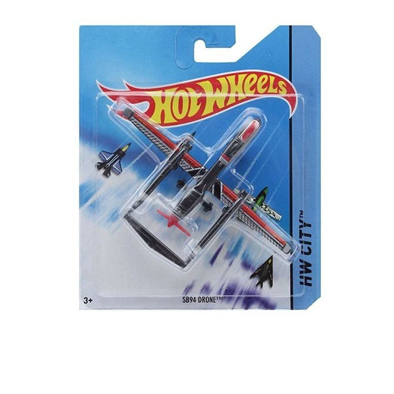 Hot Wheels City Air Craft - Black And Red BBL47-FFC84