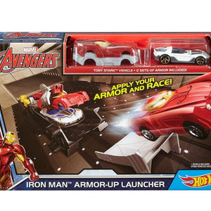 Marvel Iron Man Armor-Up Launcher Track Hot Wheels Playset DKT27-DKT30