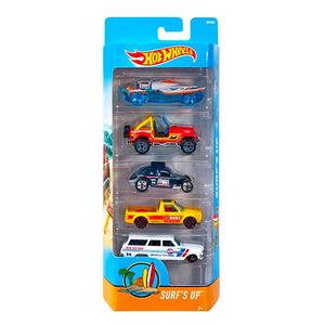 Hot Wheels  5 Cars Pack SURF'S UP Hotwheels Pack
