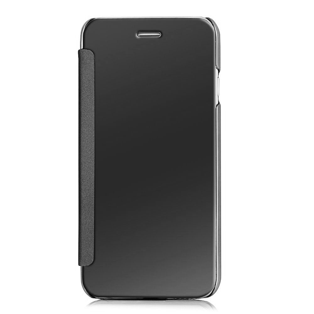 Barrier® Clear View Mirror Finish Flip Cover for iPhone 6 and iPhone 6s ( BLACK )