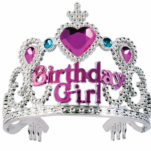 Jessie My Princess Birthday Girl Tiara / Crown ( Multicolor ) for Parties , Fashion Show , Fancy Dress Costume Accessory