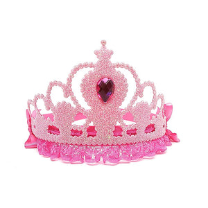 Jessie My Princess Tiara / Crown Rhinestone , Glitter Fabric ( Pink ) for Parties , Fashion Show , Fancy Dress Costume Accessory