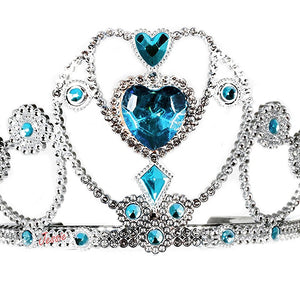 Jessie My Princess Tiara / Crown of 3 Hearts ( Blue ) for Parties , Fashion Show , Fancy Dress Costume Accessory