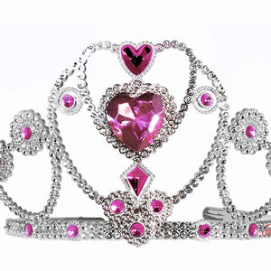 Jessie My Princess Tiara / Crown of 3 Hearts ( Pink ) for Parties , Fashion Show , Fancy Dress Costume Accessory