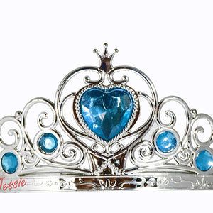 Jessie My Princess Tiara / Crown of Hearts ( Arctic Blue ) for Parties , Fashion Show , Fancy Dress Costume Accessory