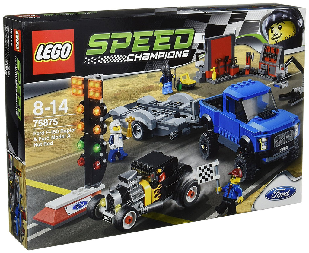Lego Speed Champions Ford F-150 Raptor & Ford Model A Hot Rod,Lego 75875