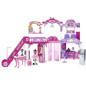 Barbie Malibu Avenue Mall, Multi Color CNB31 , Dollhouse Set