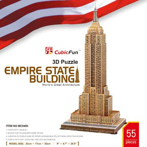 Empire State Building - World Great Architecture -3D Puzzle
