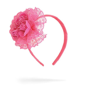 Jessie 3 Roses Headband for Girls (Pink)