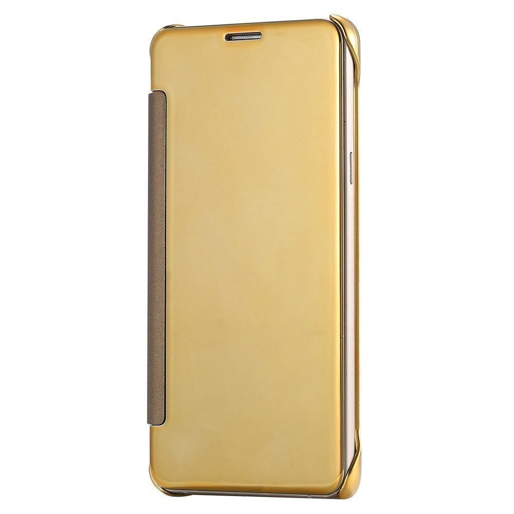 Barrier® Clear View Mirror Finish Flip Cover for Samsung Galaxy Note 4 ( GOLD )