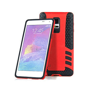 Barrier® Dual Armor Hybrid Grip Back Shockproof Cover for Barrier® Dual Armor Hybrid Grip Back Shockproof Cover for Samsung Note 4 ( RED )