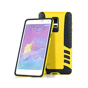 Barrier® Dual Armor Hybrid Grip Back Shockproof Cover for Samsung Note 4 ( YELLOW )