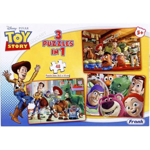 Frank Disney Toy Story 3 in 1 Puzzle for Kids - 48 Pcs 11308