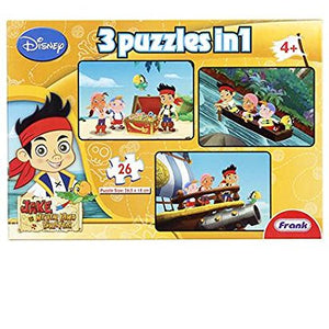 Frank Jake and the Never Land Pirates 3 in 1 Puzzle 13901