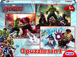 Frank 'Marvel Avengers 3-In-1' 48 Pcs Jigsaw Puzzle 90136