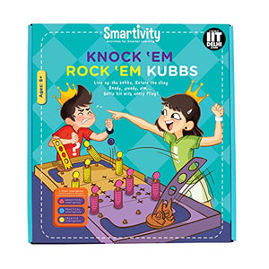Smartivity Knock 'Em Rock 'Em Kubbs Educational Toy  STEM Toys   SMRT 1011