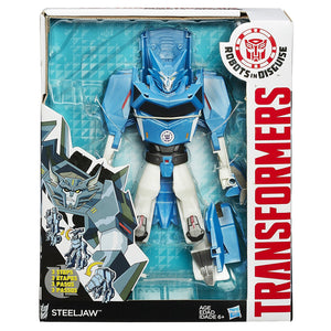 Transformers Robots in Disguise Hyper Change Heroes 3 step changer STEEL JAW, Multi Color B1726-B0067