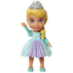 Disney Frozen Elsa Poseable Mini Doll Cake Topper ( 3 inches ) with Sparkles