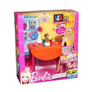 Barbie Doll Dinner To Dessert Dining Room Set T7536-T8007