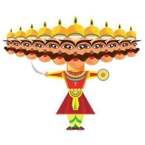 CrafToi - 3D DIY Raavan paper craft toy T001005